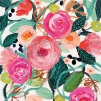 Servietten 33x33 cm - La Belle Rose