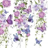Servietten 33x33 cm - Butterfly Splash