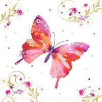 Servietten 33x33 cm - Hübscher Schmetterling