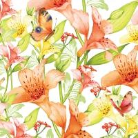 Servietten 33x33 cm - Wunderschöne Lillie