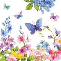 Servietten 33x33 cm - Blue Spring