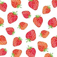 Servietten 33x33 cm - Strawberries