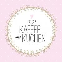 Servietten 33x33 cm - Kaffee und Kuchen