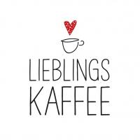 Servietten 33x33 cm - Lieblingskaffee