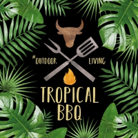 Servietten 33x33 cm - Tropical BBQ