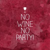 Servietten 33x33 cm - No Wine