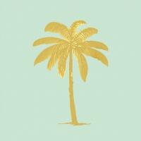 Servietten 33x33 cm - Palm Fantasy pastel green