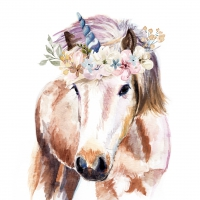 Servietten 33x33 cm - Pretty Unicorn