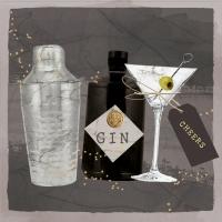 Servietten 33x33 cm - Gin & Martini