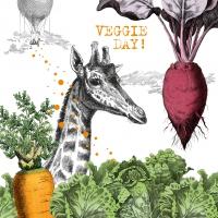 Servietten 33x33 cm - Veggie Day