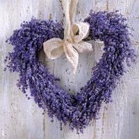 Servietten 33x33 cm - Lavender Heart