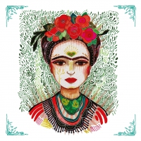 Servietten 33x33 cm - Frida: Memory the Heart