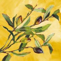 Servietten 33x33 cm - Olive Musée