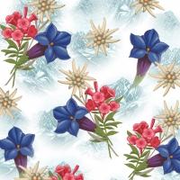 Servietten 33x33 cm - Alpine Flowers