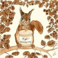 Servietten 33x33 cm - Café Noisette