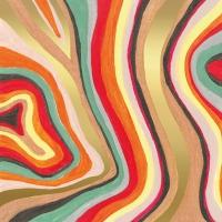Servietten 33x33 cm - Colourful Stripes Napkin 33x33