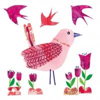 Servietten 33x33 cm - Beauty Bird