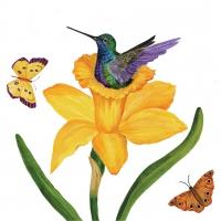 Servietten 33x33 cm - Daffodil Nest
