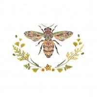 Servietten 33x33 cm - Green Bee