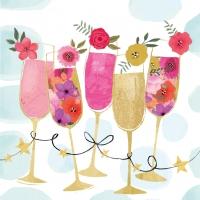 Servietten 33x33 cm - Happy Drinks