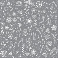 Servietten 33x33 cm - Pure grey