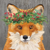 Servietten 33x33 cm - Winter Berry Fox Napkin 33x33