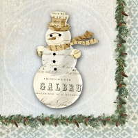 Servietten 25x25 cm - Winter Lodge Snowman *
