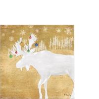 Servietten 25x25 cm - Woodland Moose