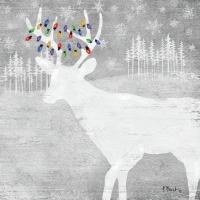 Cocktail Servietten Woodland Moose silver