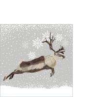 Servietten 25x25 cm - Snowfall Caribou