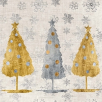 Servietten 25x25 cm - Holiday Trees