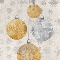 Servietten 25x25 cm - Holiday Ornaments