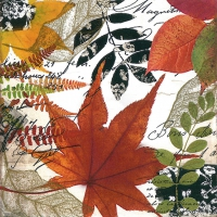 Servietten 25x25 cm - Herbst-Collage