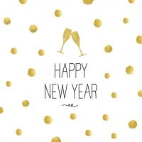 Servietten 25x25 cm - Happy New Year!