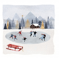Servietten 25x25 cm - Mountain Skating
