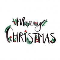 Servietten 25x25 cm - Merry Christmas