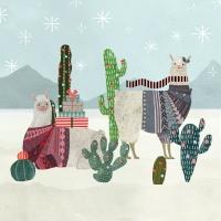 Servietten 25x25 cm - Holiday Llamas