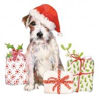 Servietten 25x25 cm - Christmas Pup