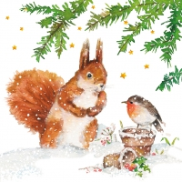 Servietten 25x25 cm - Squirrel & Robin