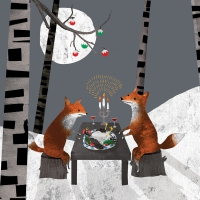 Servietten 25x25 cm - Midnight Feast