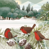 Servietten 25x25 cm - Meadow Birds