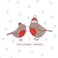 Servietten 25x25 cm - Christmas Tweets