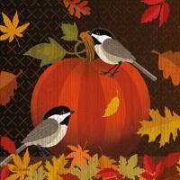 Servietten 25x25 cm - October Pumpkin Napkin 25x25