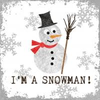 Servietten 33x33 cm - I´m a Snowman!