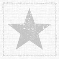 Servietten 33x33 cm - Star Fashion Silber