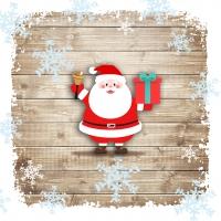 Servietten 33x33 cm - Santa Jingle Bell
