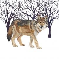 Lunch Servietten Winter Wolf