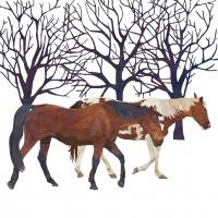 Lunch Servietten Winter Horses
