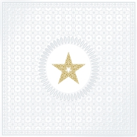 Servietten 33x33 cm - Medaillon Star pearl