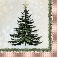 Servietten 33x33 cm - Winter Lodge Tree